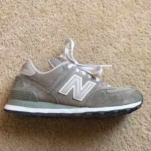 Gray New Balance sneakers